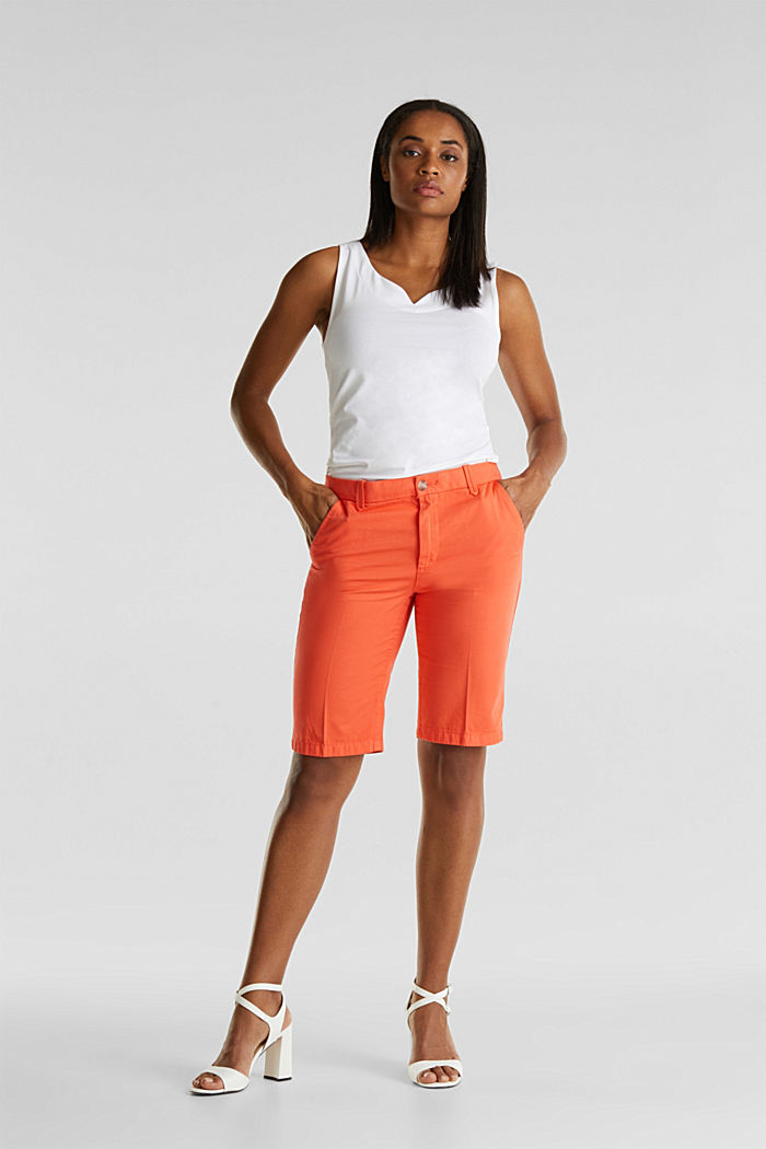Bermudas in 100% cotton, CORAL, detail image number 4