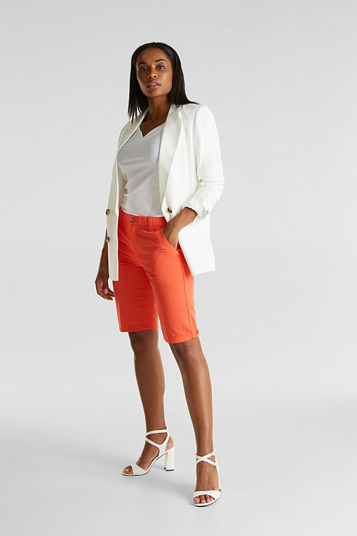 Bermudas in 100% cotton, CORAL, detail image number 1