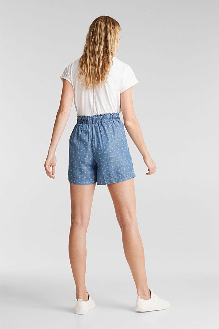 Aus TENCEL™: Shorts im Denim-Look, BLUE MEDIUM WASHED, detail image number 3
