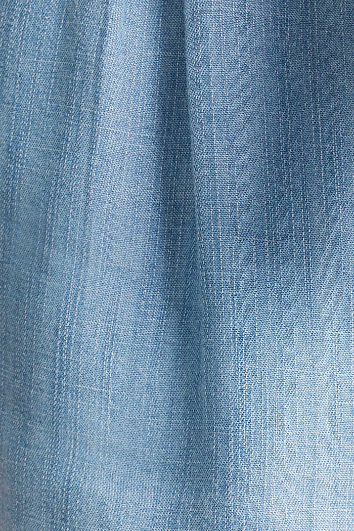 Made of TENCEL™: shorts in a denim look, BLUE BLEACHED, detail image number 4
