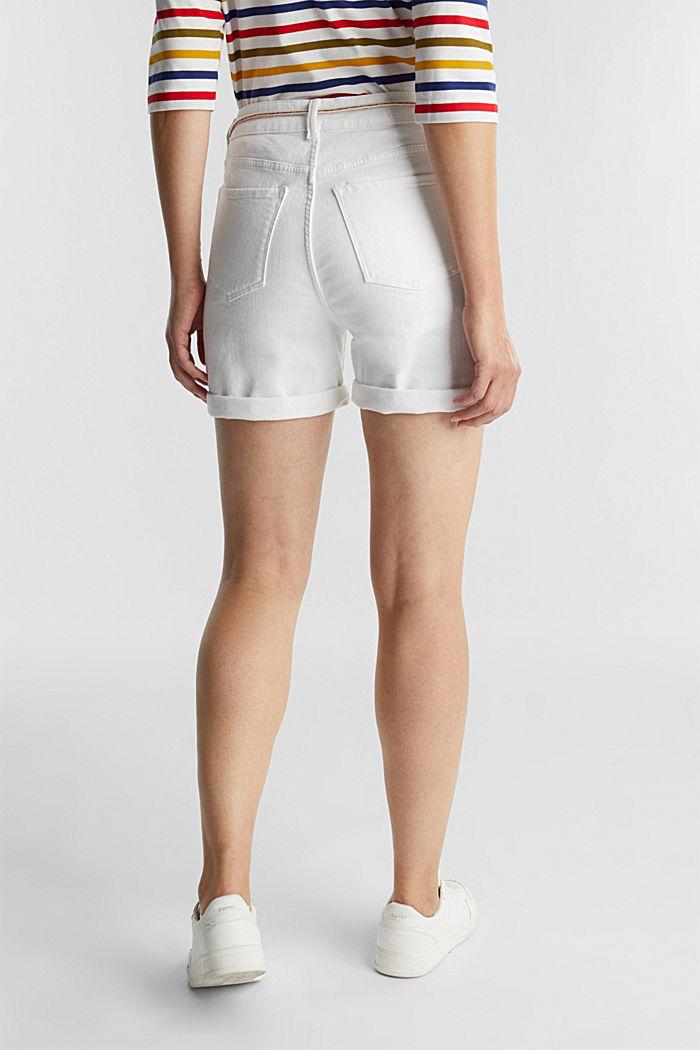 Denim shorts with organic cotton, WHITE, detail image number 3