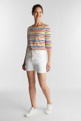 Denim shorts with organic cotton, WHITE, detail