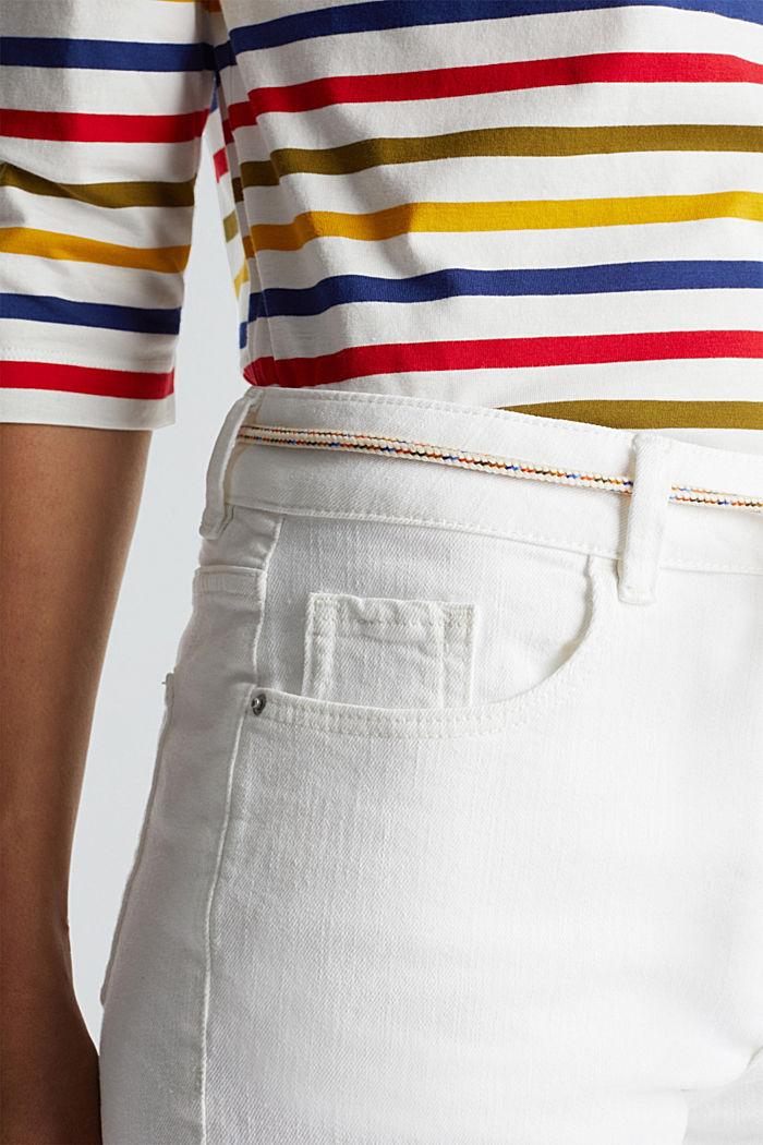 Denim shorts with organic cotton, WHITE, detail image number 2