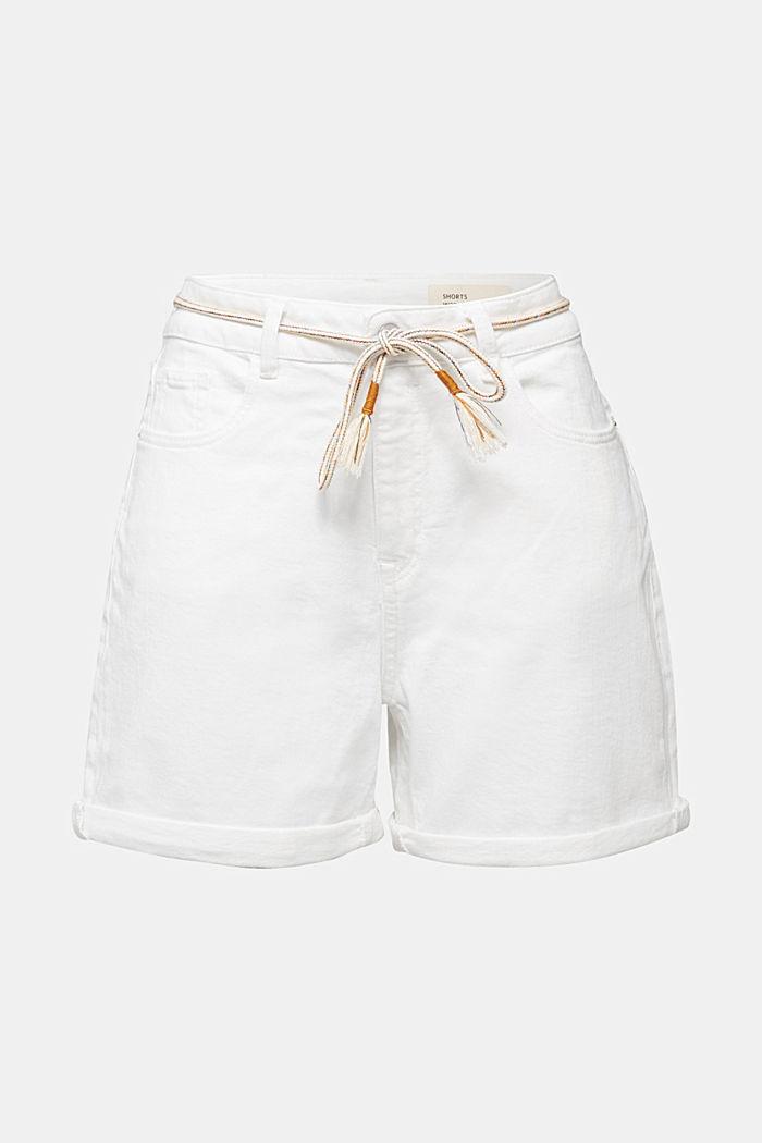 Denim shorts with organic cotton, WHITE, detail image number 5