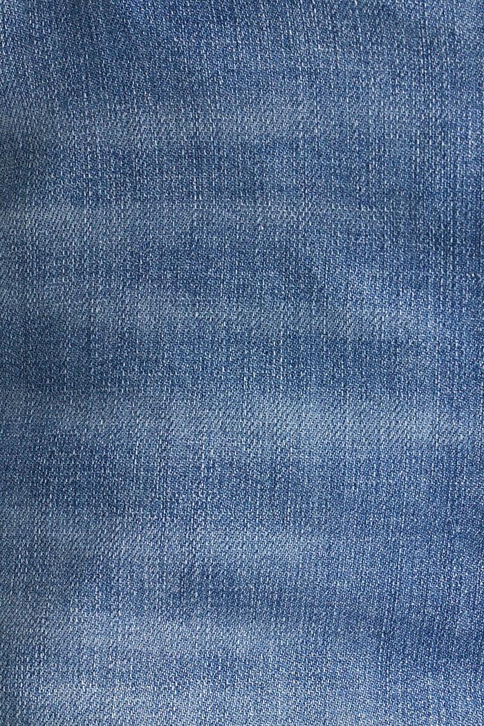 Stretch denim shorts, BLUE LIGHT WASHED, detail image number 4