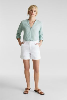Denim shorts with Lycra®, WHITE, detail