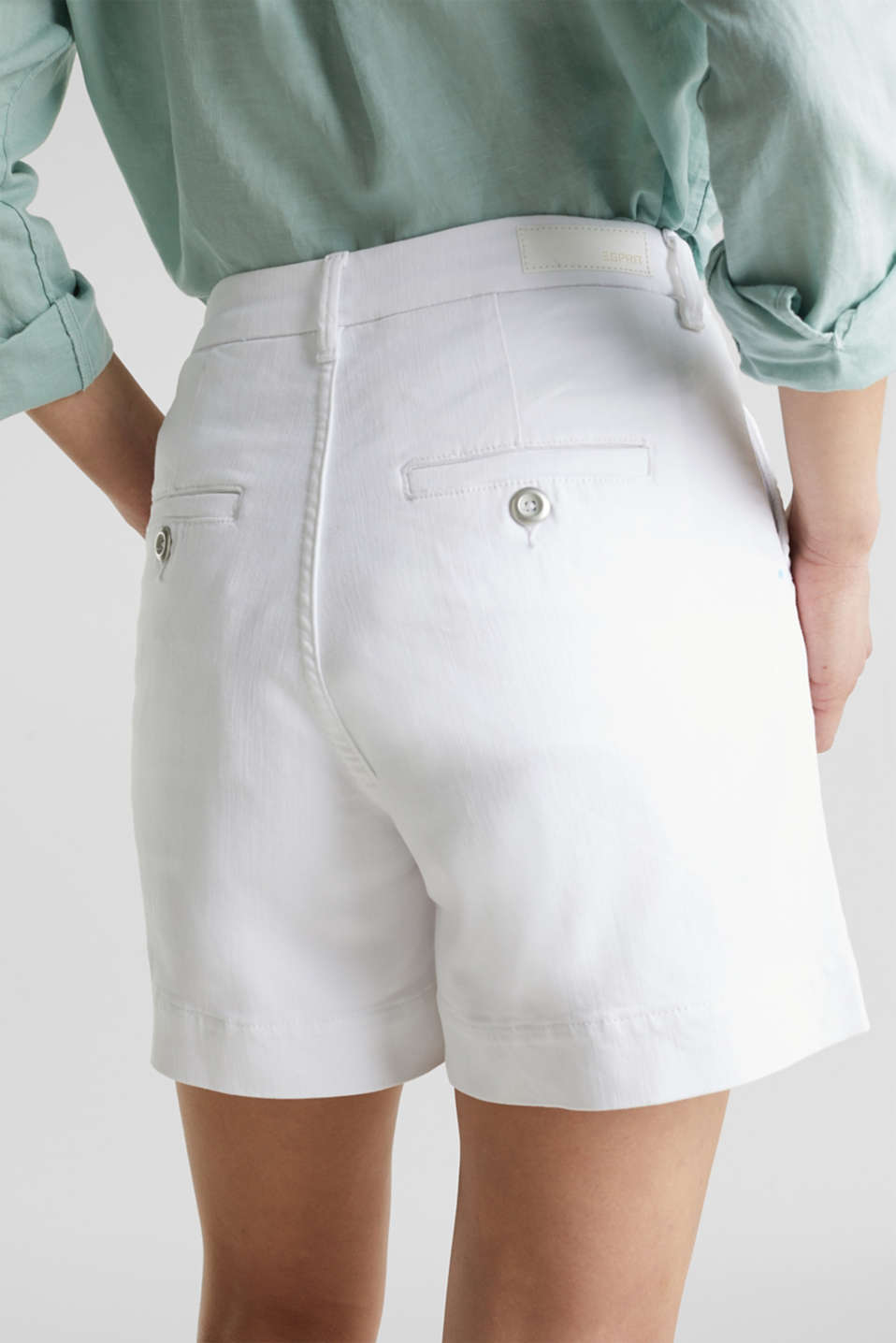 Denim shorts with Lycra®, WHITE, detail image number 5