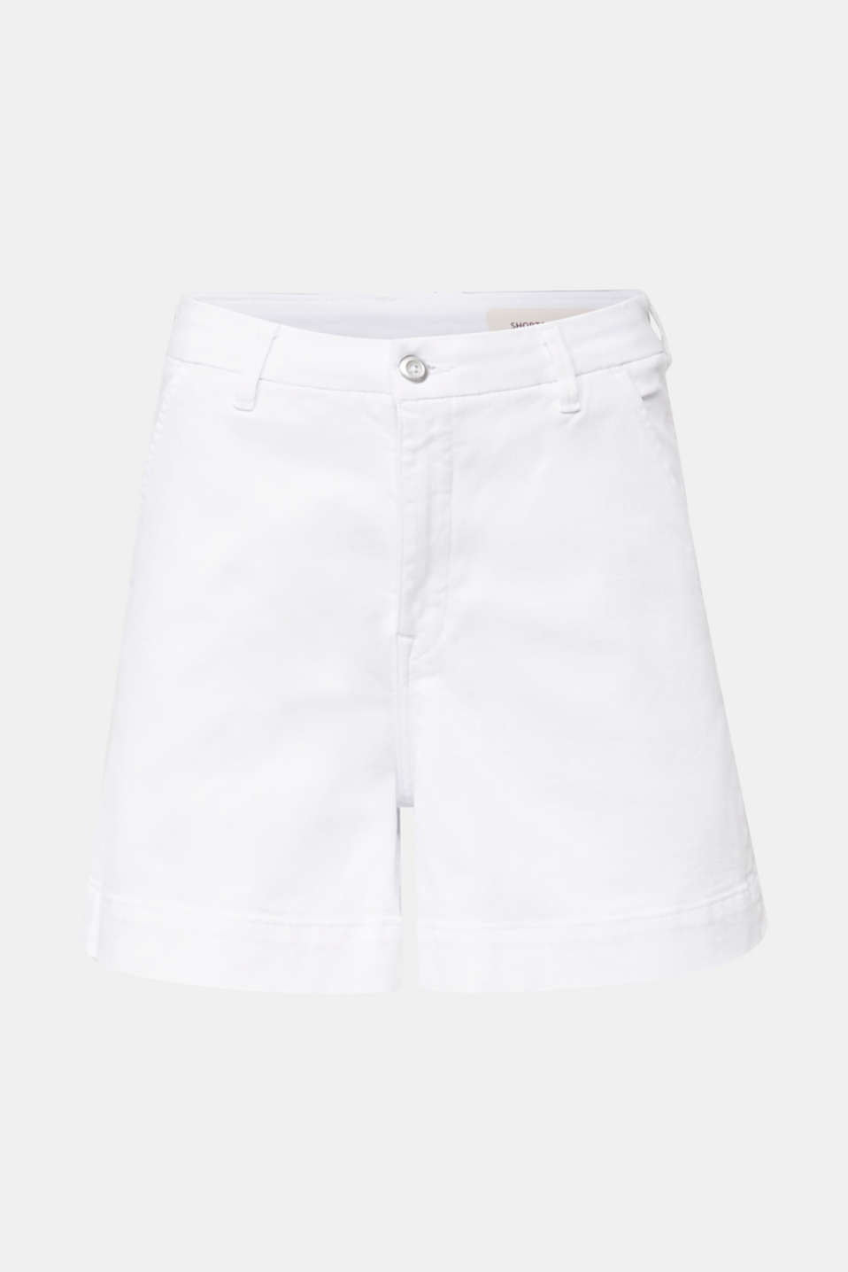 Denim shorts with Lycra®, WHITE, detail image number 7