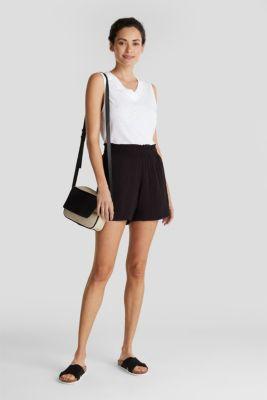 Shorts made of LENZING™ ECOVERO™, BLACK, detail