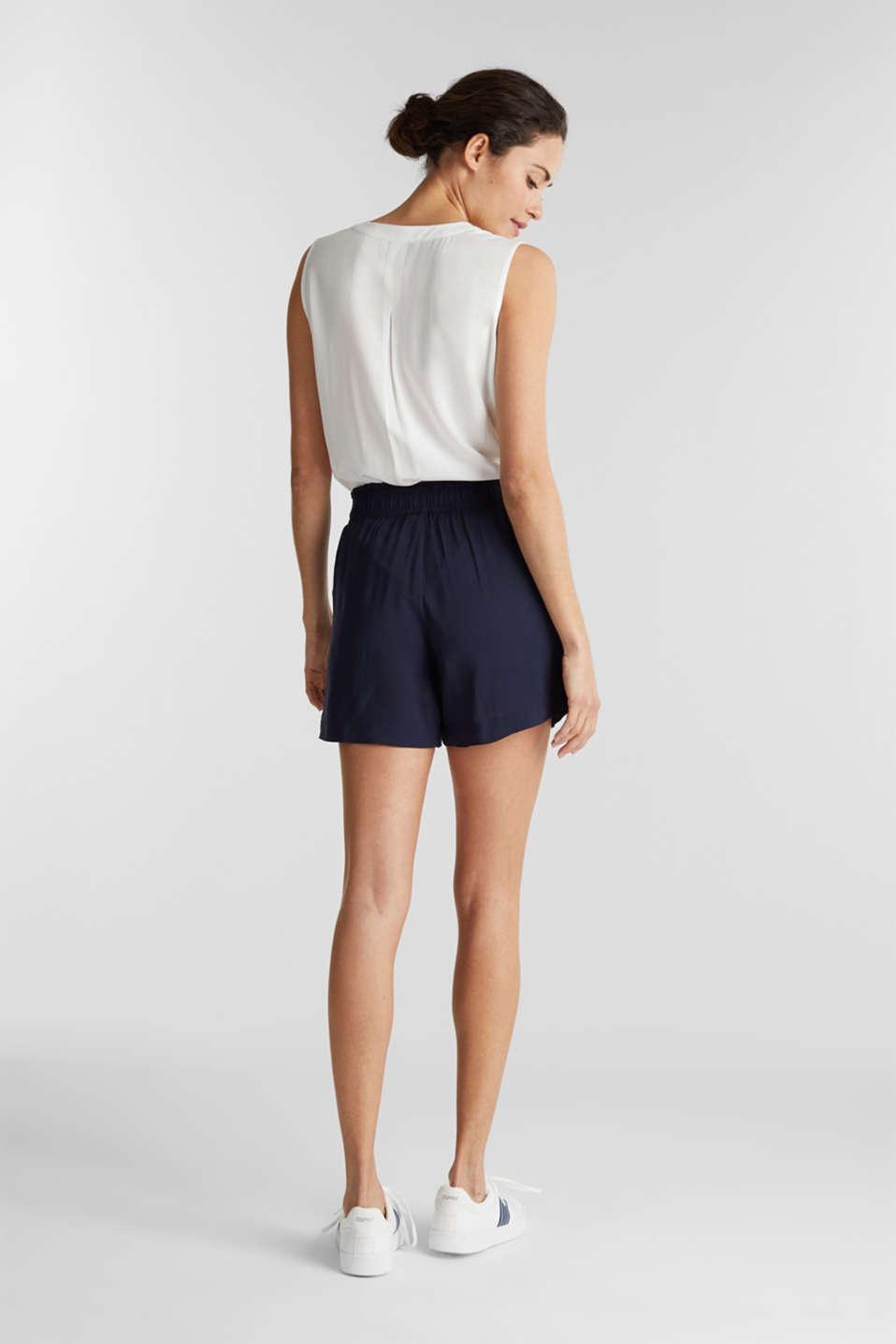 Shorts made of LENZING™ ECOVERO™, NAVY, detail image number 3