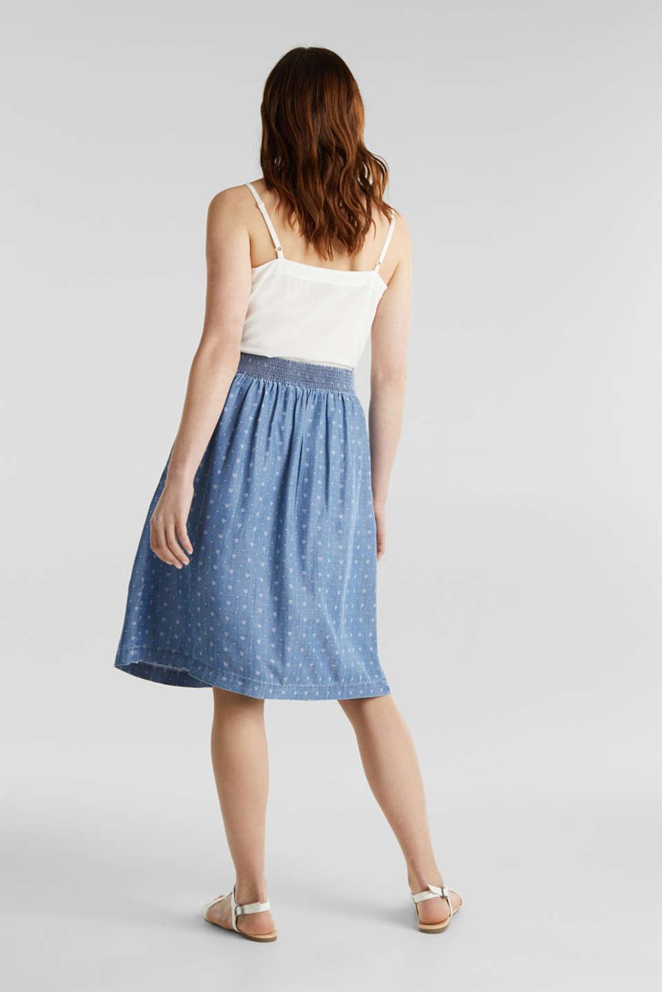 Denim-look skirt made of TENCEL™, BLUE MEDIUM WASH, detail image number 3
