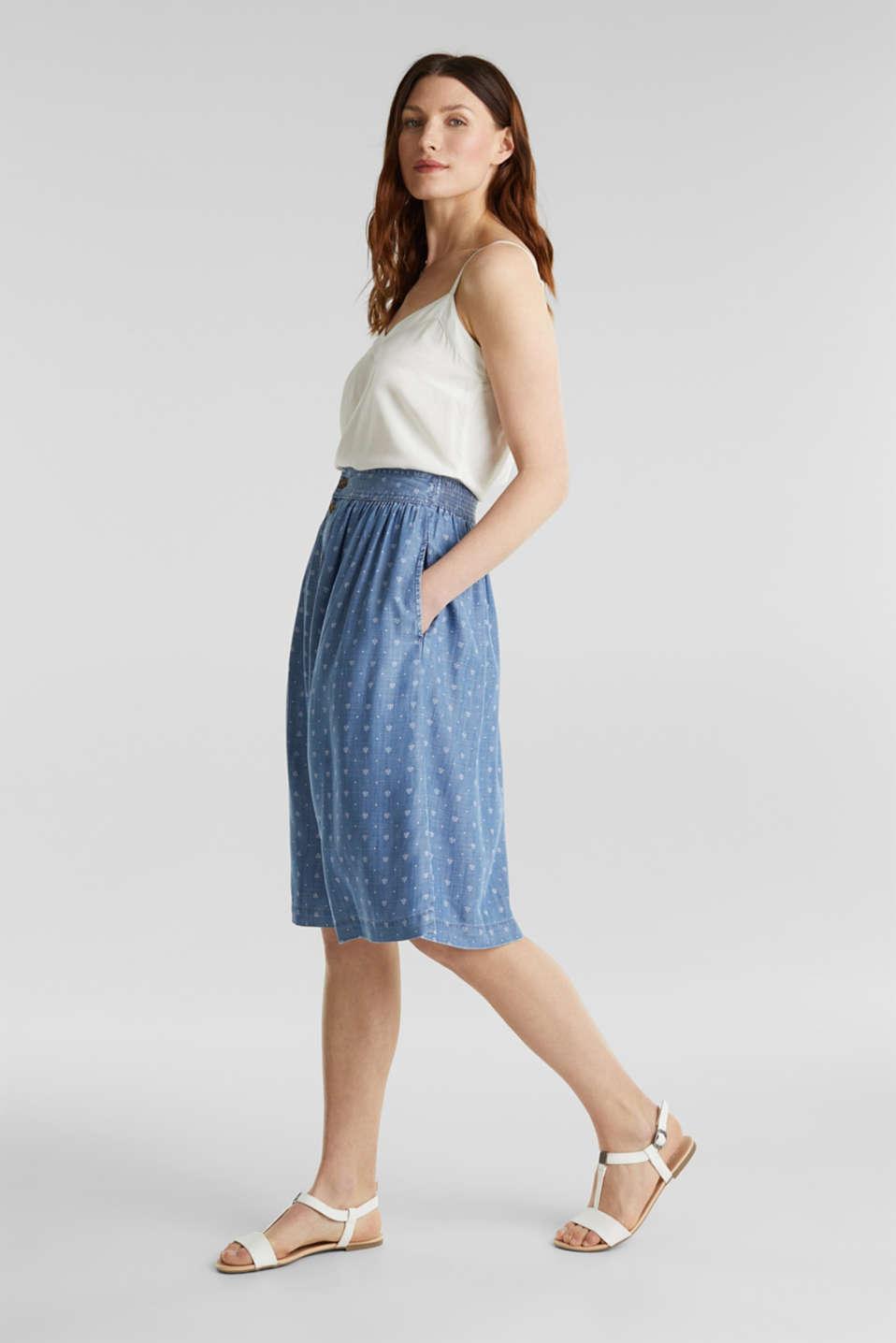 Denim-look skirt made of TENCEL™, BLUE MEDIUM WASH, detail image number 1