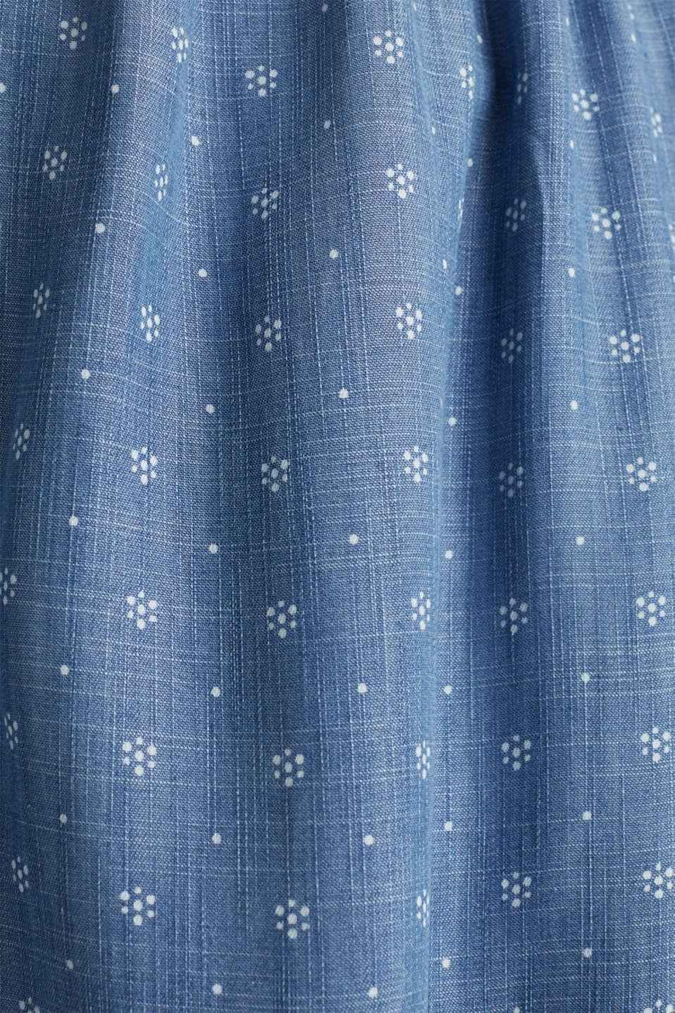 Denim-look skirt made of TENCEL™, BLUE MEDIUM WASH, detail image number 4