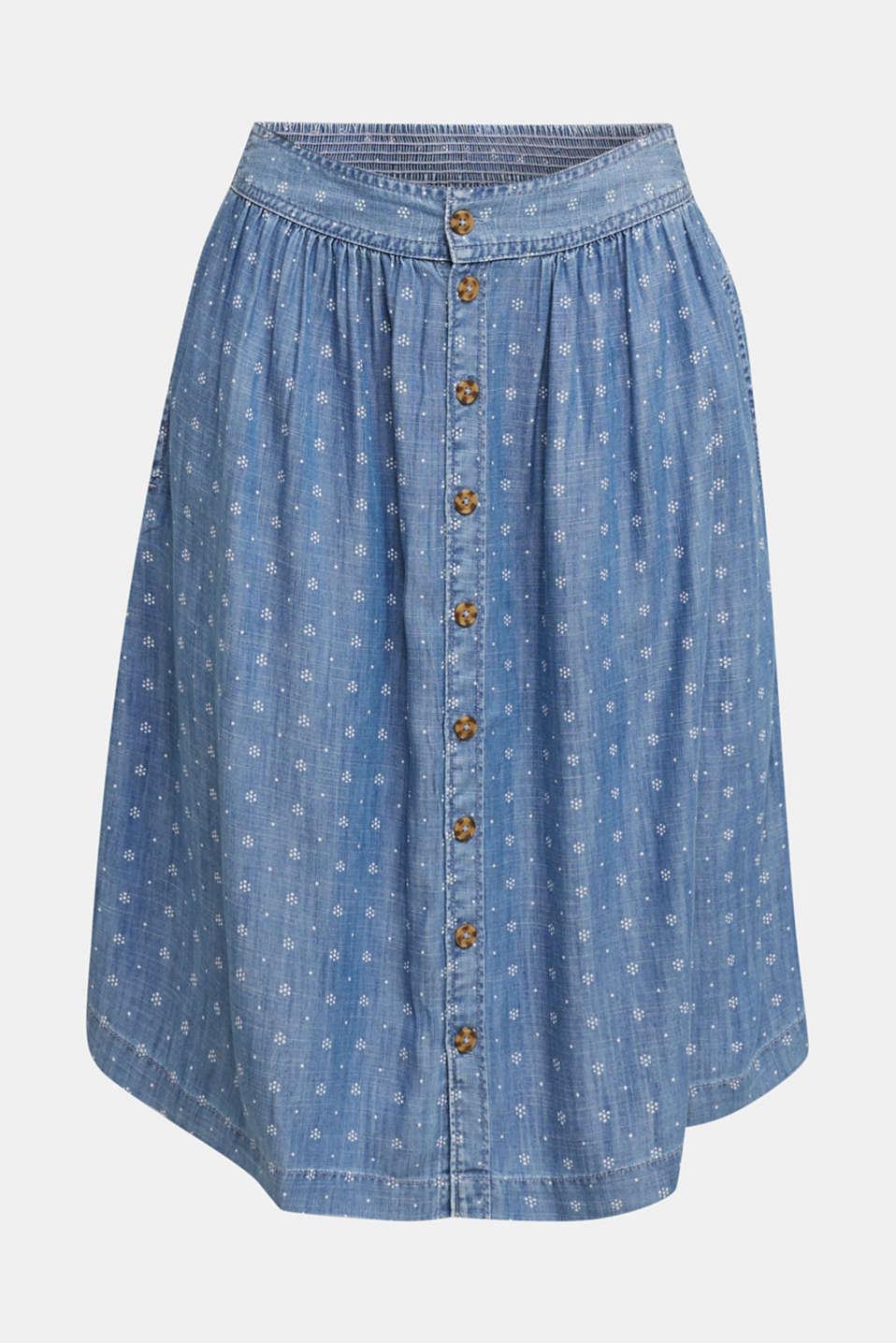 Denim-look skirt made of TENCEL™, BLUE MEDIUM WASH, detail image number 5