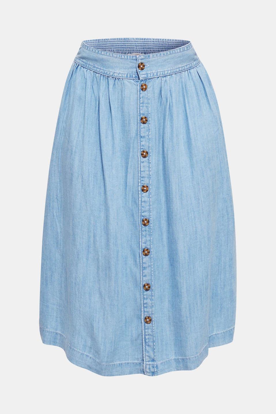 Denim-look skirt made of TENCEL™, BLUE BLEACHED, detail image number 5