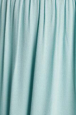 Maxi skirt in flowing crêpe, LIGHT AQUA GREEN, detail