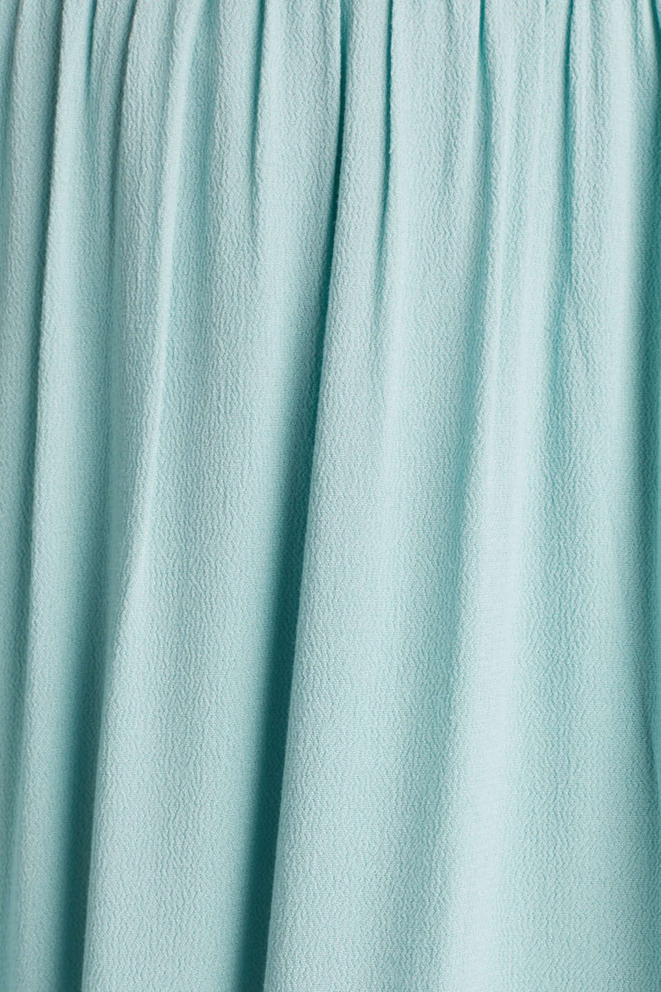 Maxi skirt in flowing crêpe, LIGHT AQUA GREEN, detail image number 4