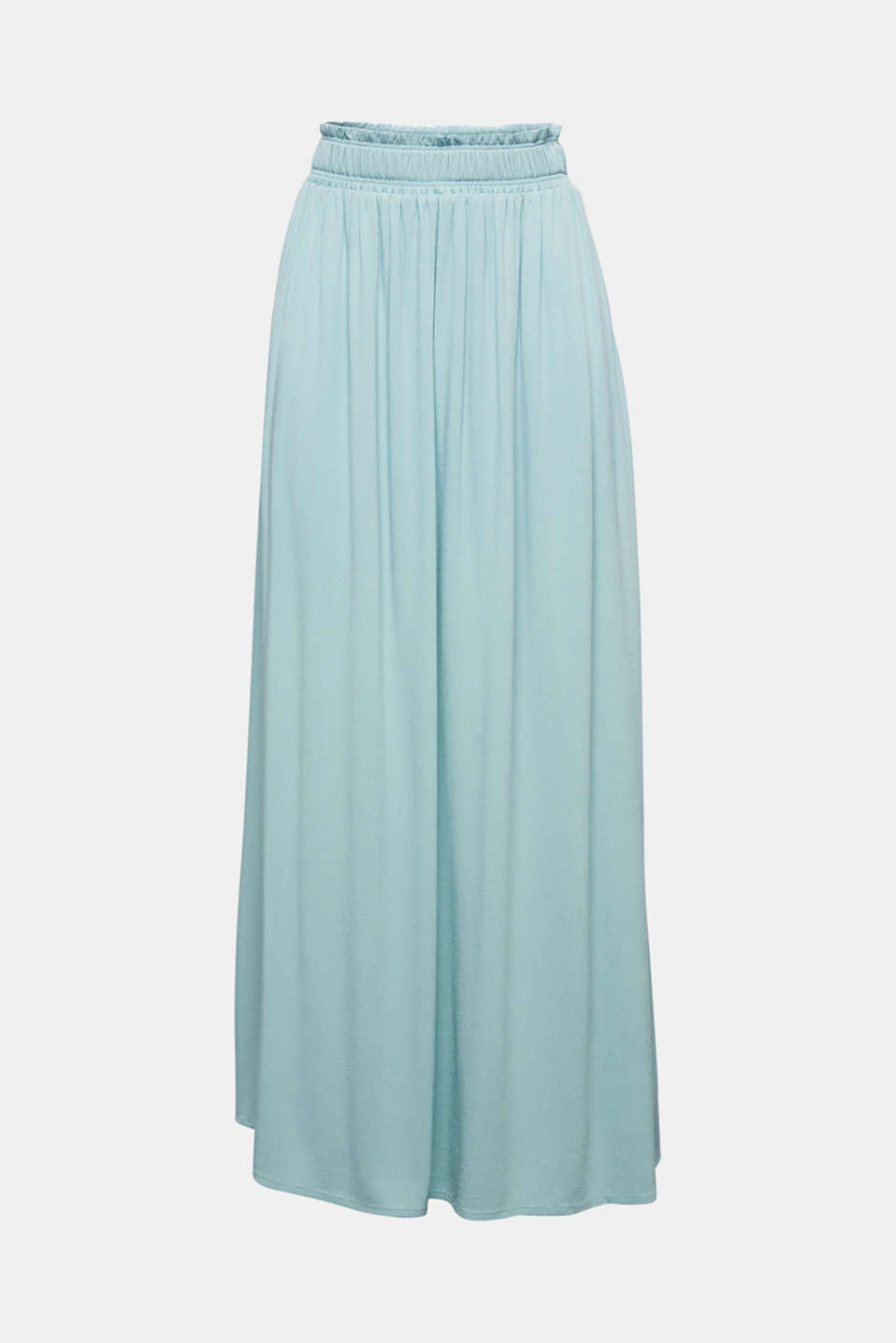 Maxi skirt in flowing crêpe, LIGHT AQUA GREEN, detail image number 5