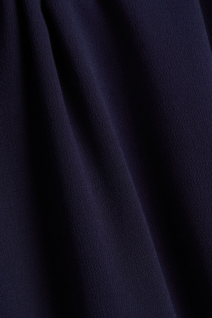 Maxi skirt in flowing crêpe, NAVY, detail image number 3