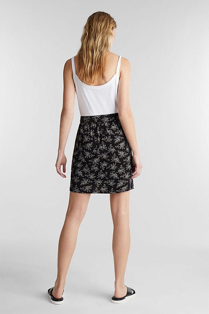 Flared jersey skirt, BLACK, detail image number 3