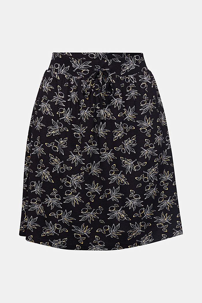 Flared jersey skirt, BLACK, detail image number 5