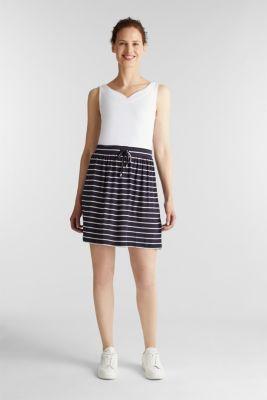 Flared jersey skirt, NAVY, detail