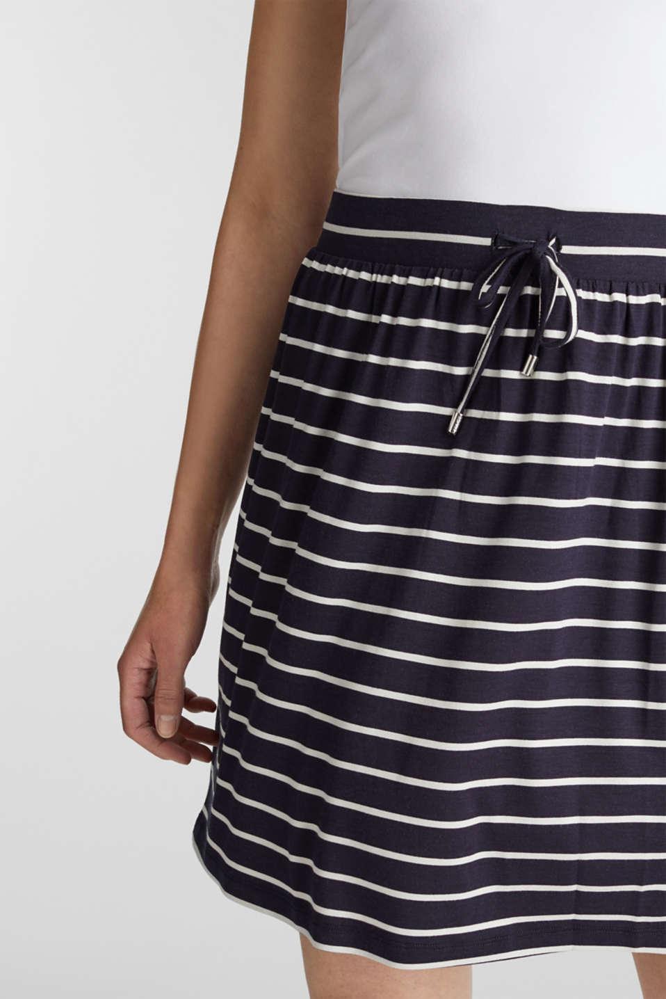 Flared jersey skirt, NAVY, detail image number 2