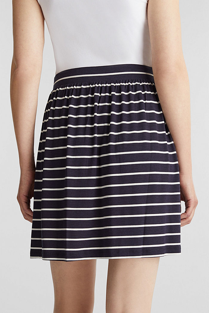 Flared jersey skirt, NAVY, detail image number 5