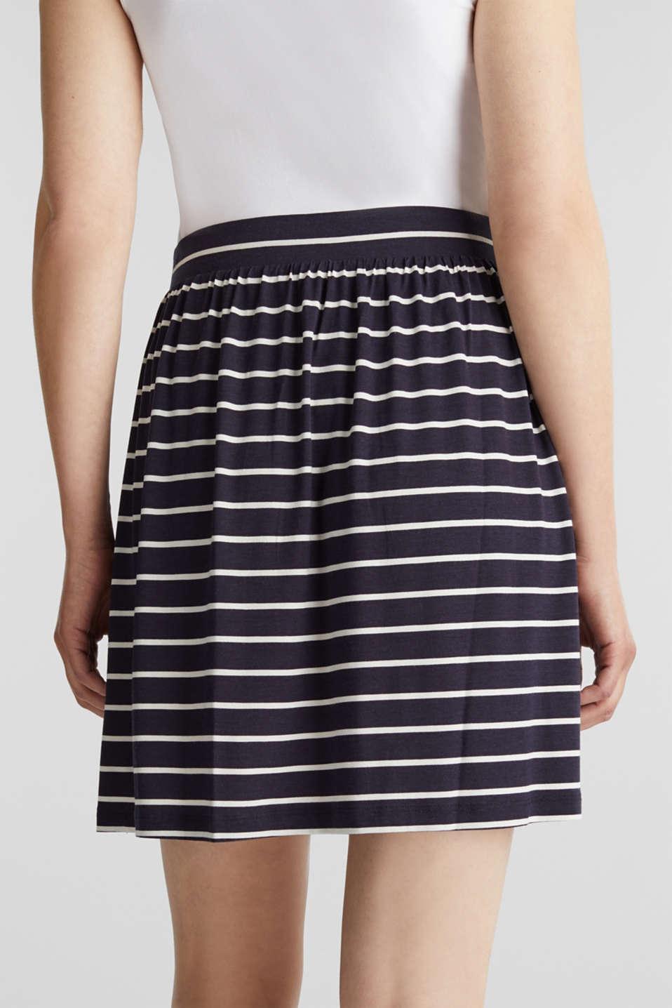 Flared jersey skirt, NAVY, detail image number 5