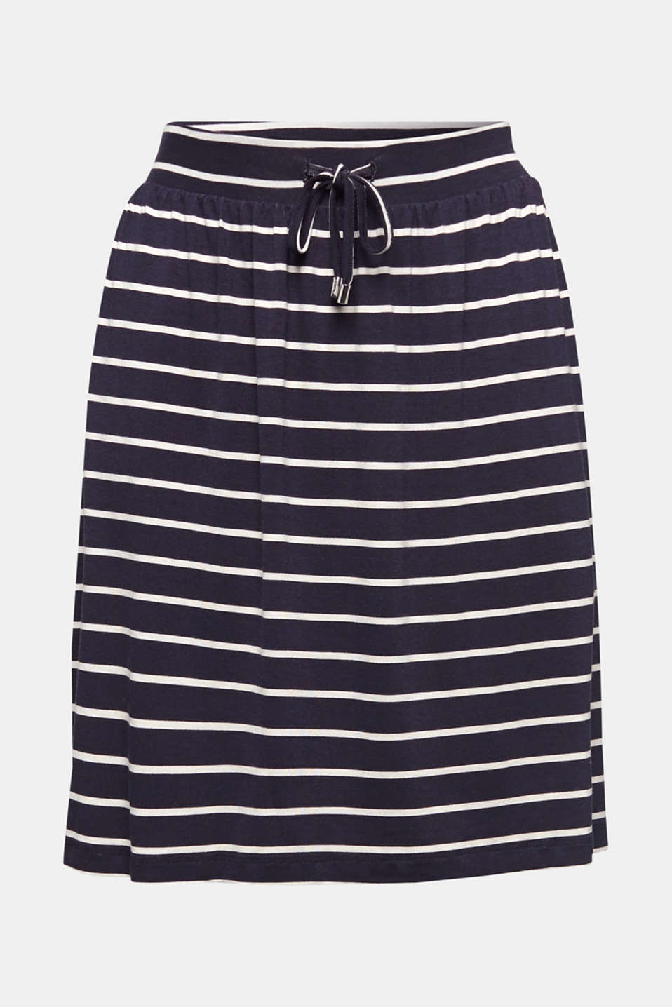 Flared jersey skirt, NAVY, detail image number 6