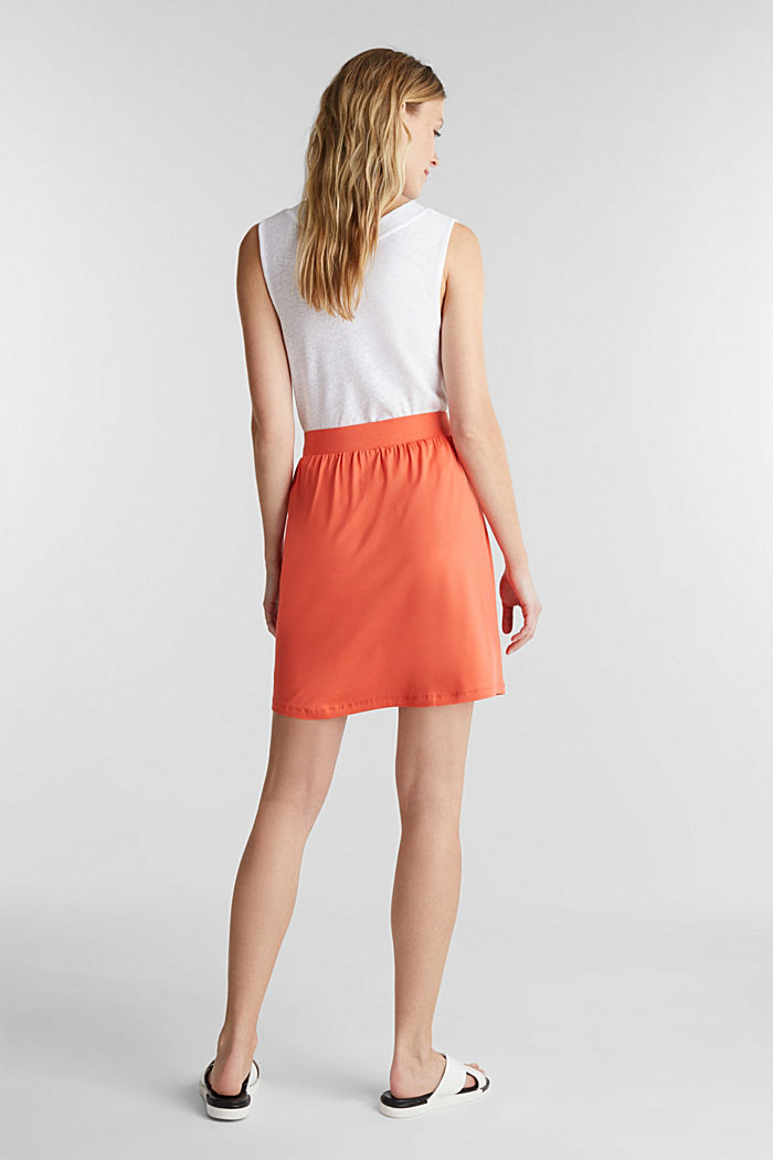 Flared jersey skirt, CORAL, detail image number 3