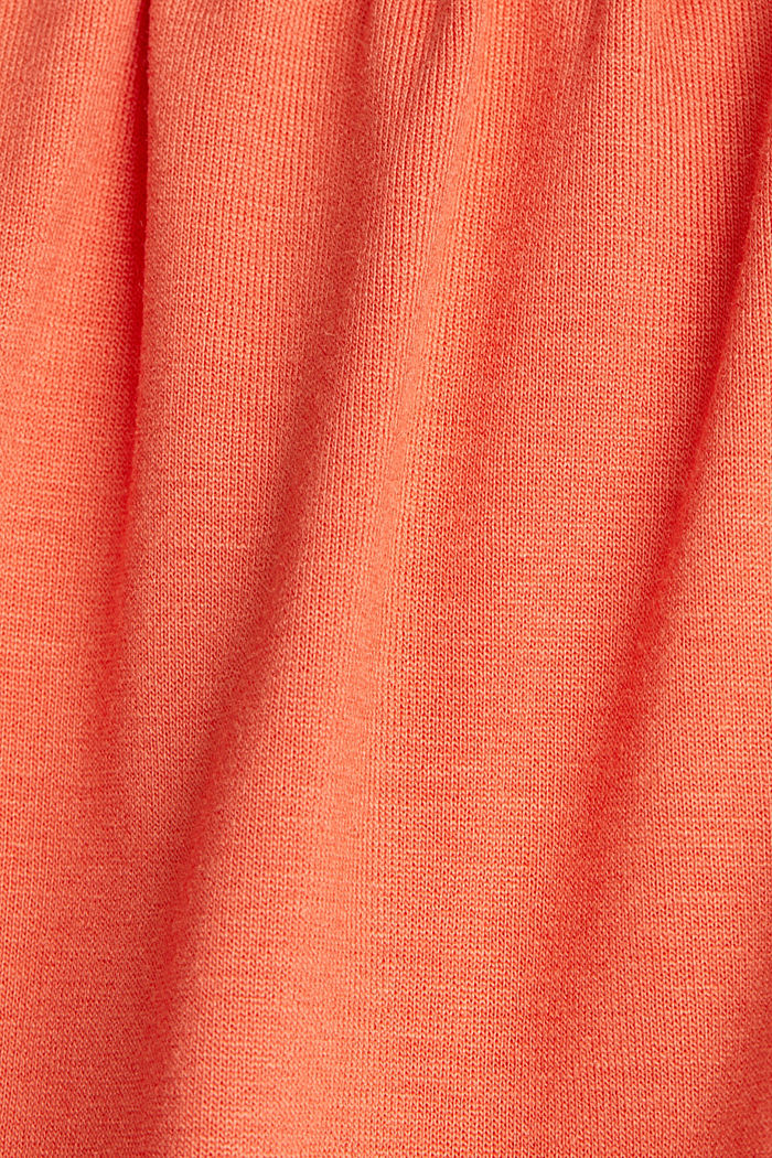Flared jersey skirt, CORAL, detail image number 4