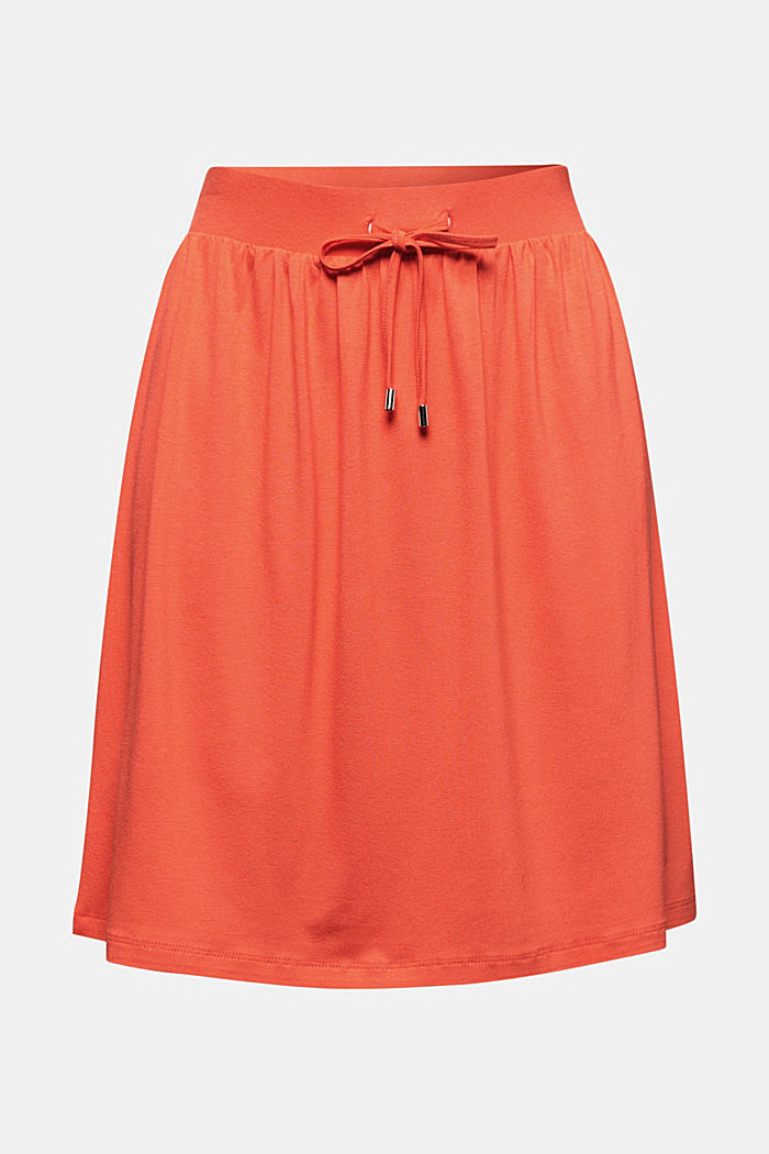 Flared jersey skirt, CORAL, detail image number 5