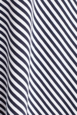 A-line skirt made of striped jersey, NAVY, detail