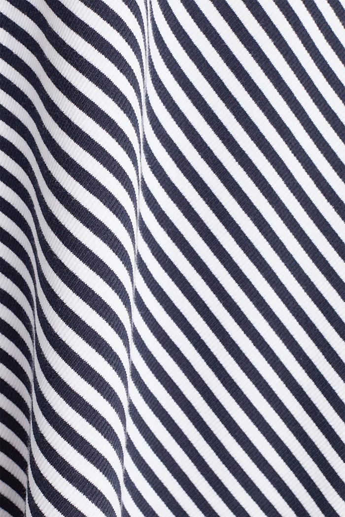 Pruhovaná žerzejová sukně v áčkové linii, NAVY, detail image number 3