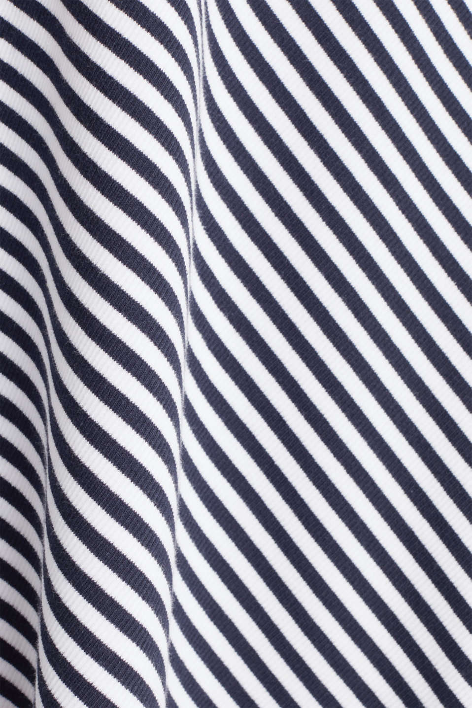 A-line skirt made of striped jersey, NAVY, detail image number 3