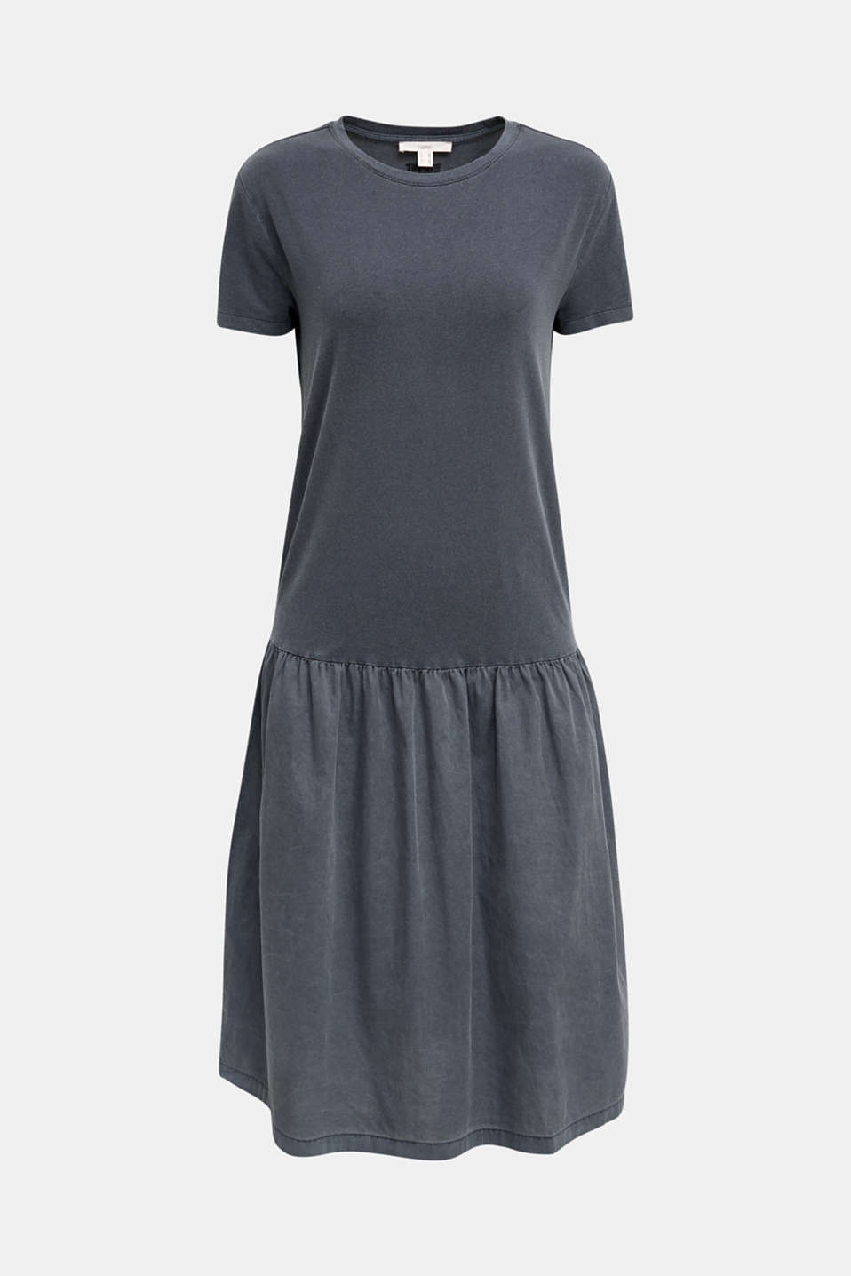 Midi dress made of jersey and cloth, GREY, detail image number 6