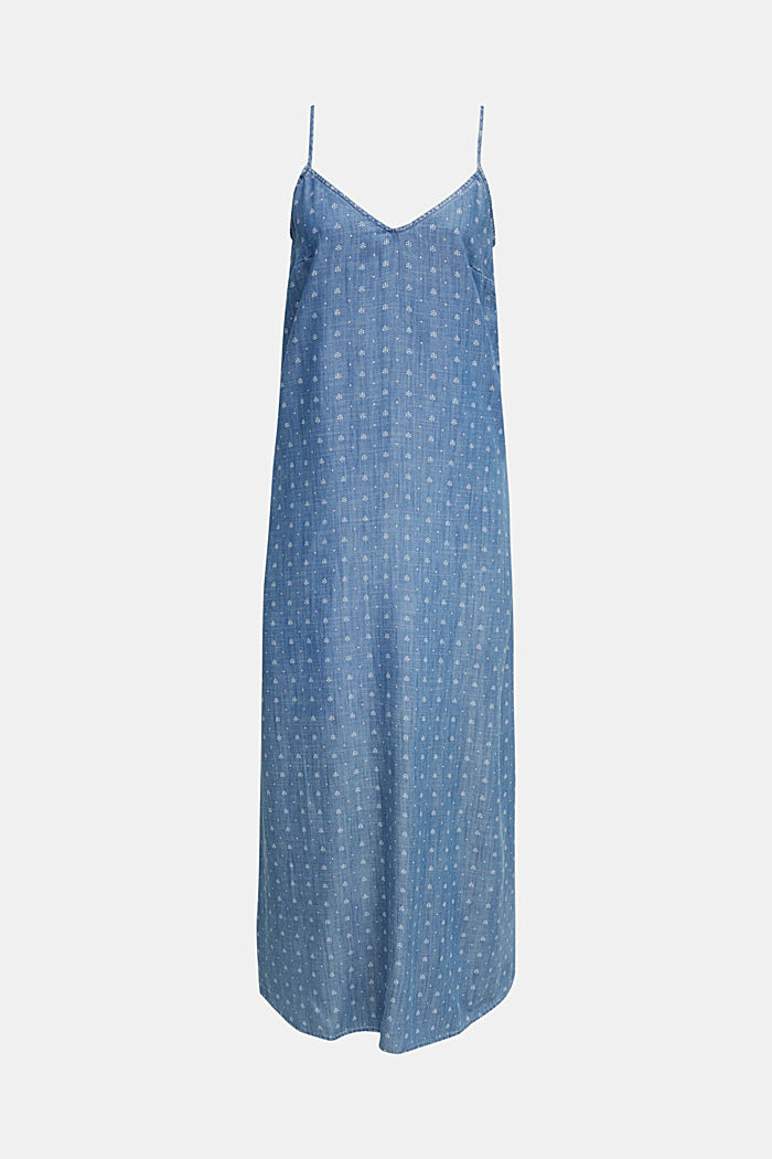 Made of TENCEL™: maxi dress in a denim look