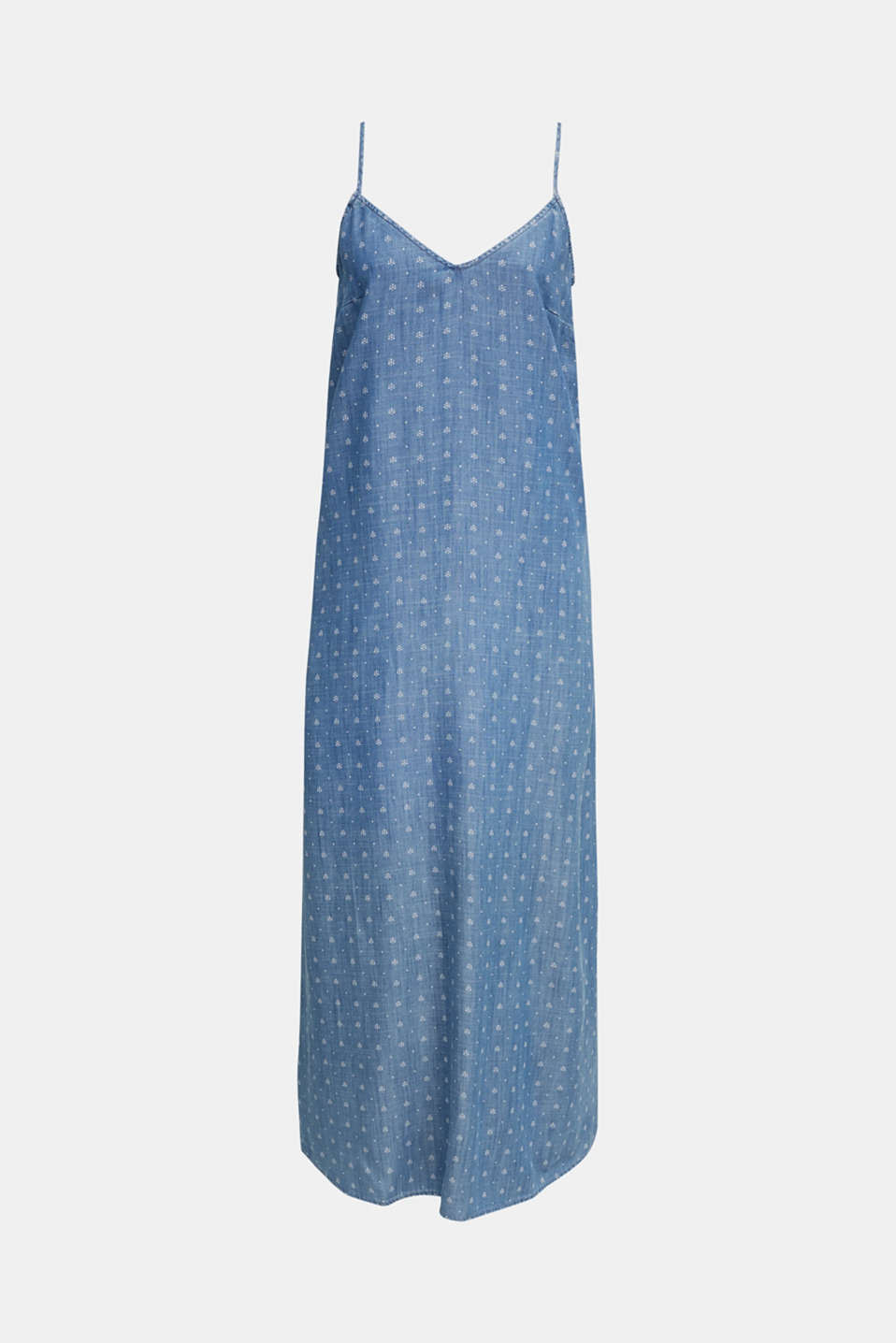 Made of TENCEL™: maxi dress in a denim look, BLUE MEDIUM WASH, detail image number 7