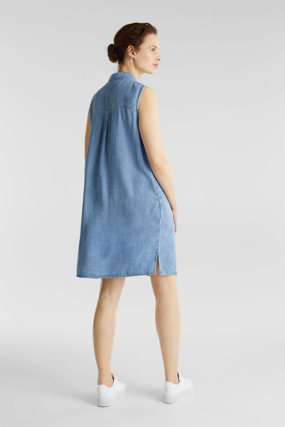 Made of TENCEL™: denim-effect dress, BLUE LIGHT WASH, detail image number 2
