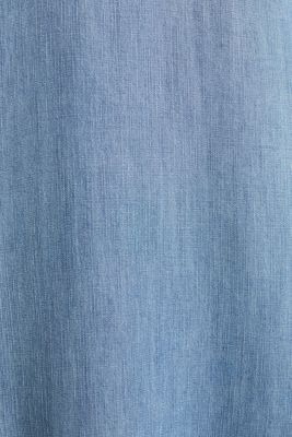 Made of TENCEL™: denim-effect dress, BLUE LIGHT WASH, detail