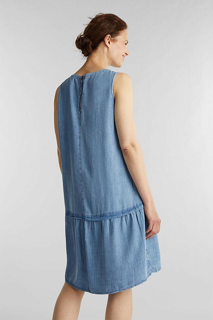 I TENCEL™: klänning i denimlook, BLUE LIGHT WASHED, detail image number 2