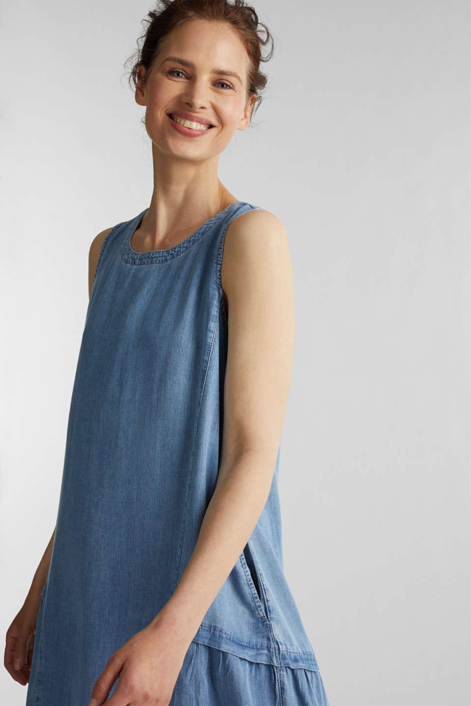 Made of TENCEL™: Denim-effect dress, BLUE LIGHT WASH, detail image number 5
