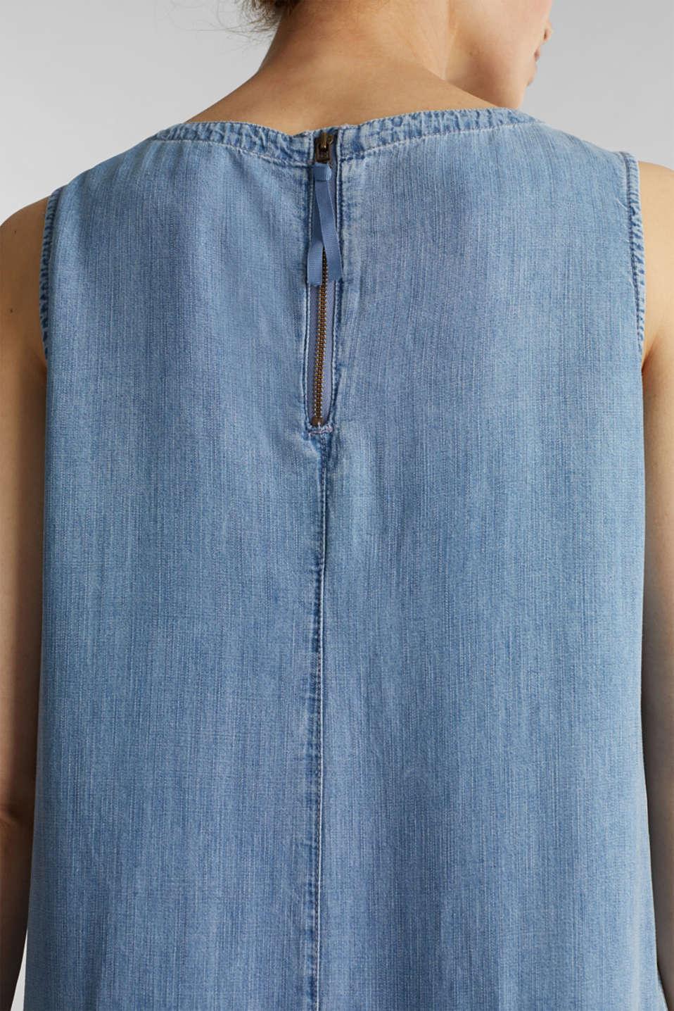 Made of TENCEL™: Denim-effect dress, BLUE LIGHT WASH, detail image number 3