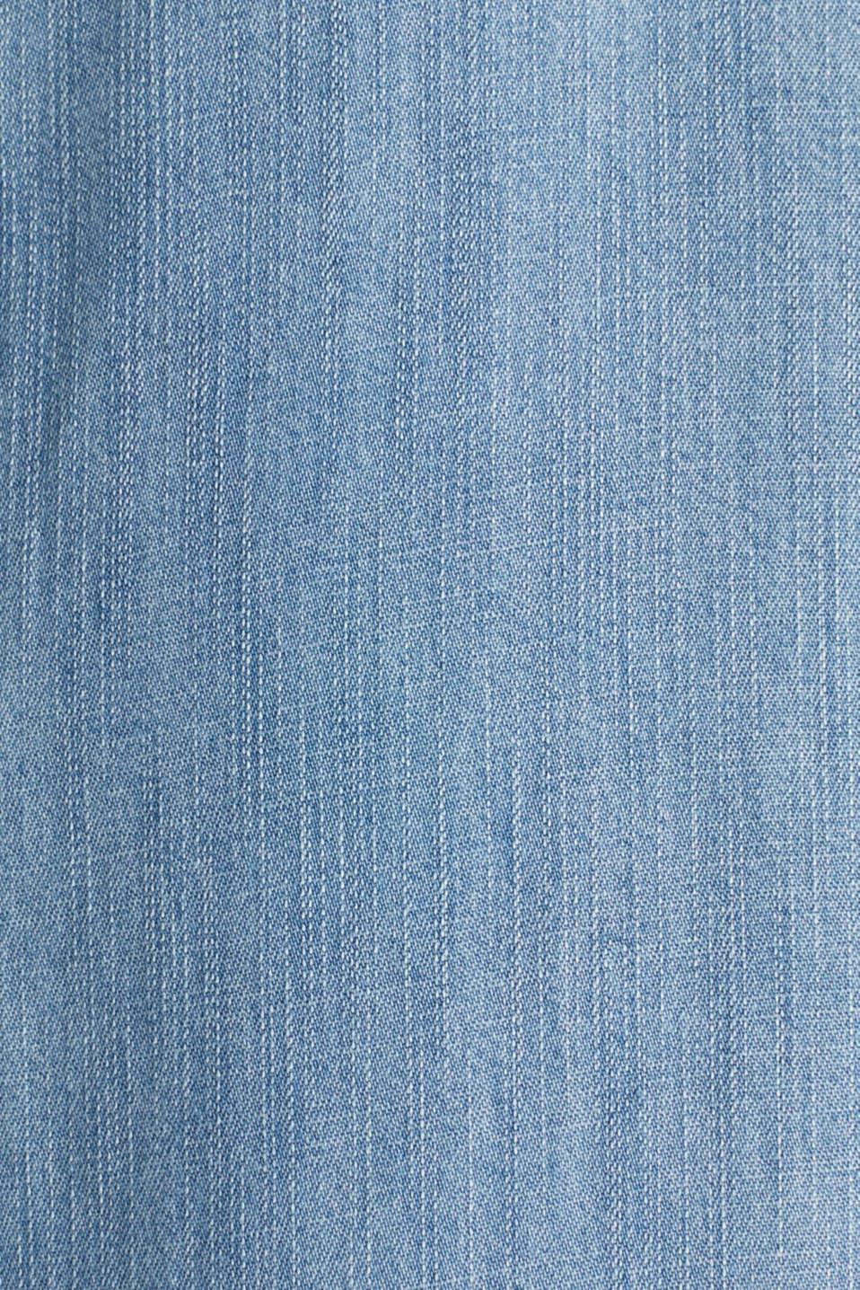 Made of TENCEL™: Denim-effect dress, BLUE LIGHT WASH, detail image number 4