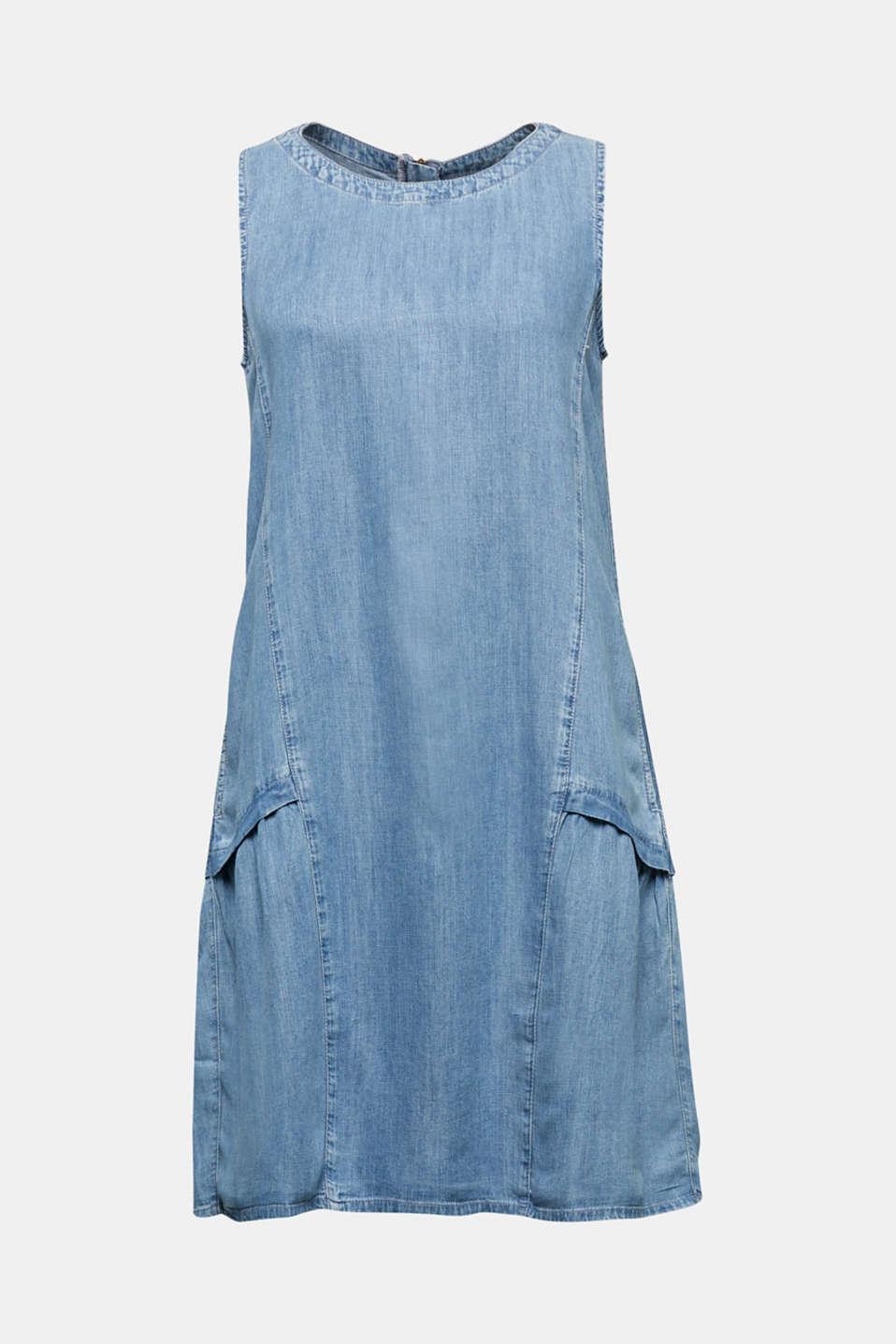 Made of TENCEL™: Denim-effect dress, BLUE LIGHT WASH, detail image number 6