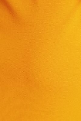 Long dress in the style of a polo shirt with belt, ORANGE 4, detail