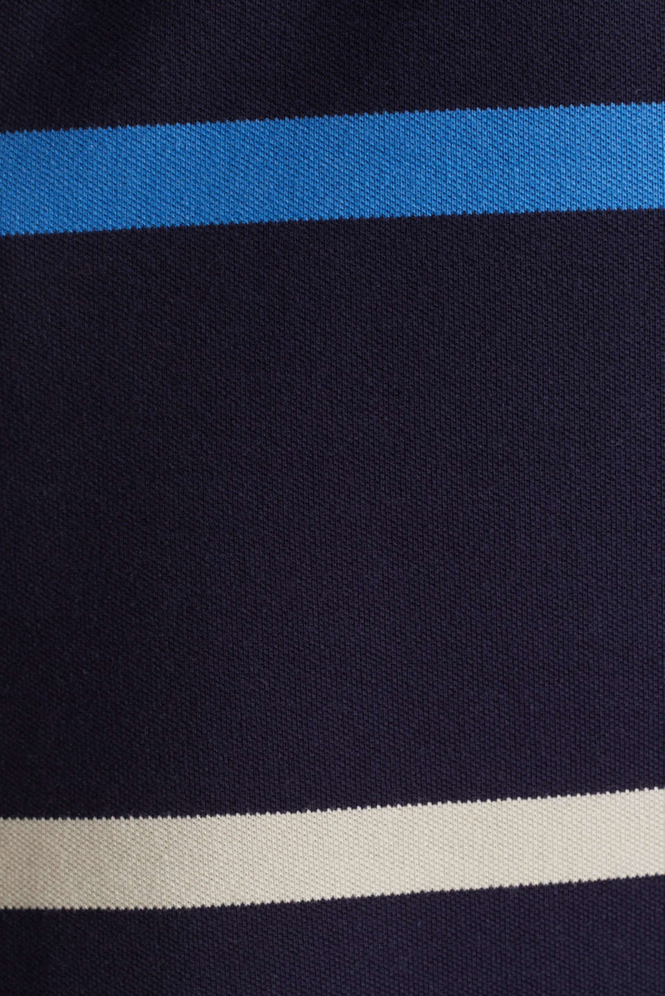 Striped polo dress in midi length, NAVY, detail image number 2