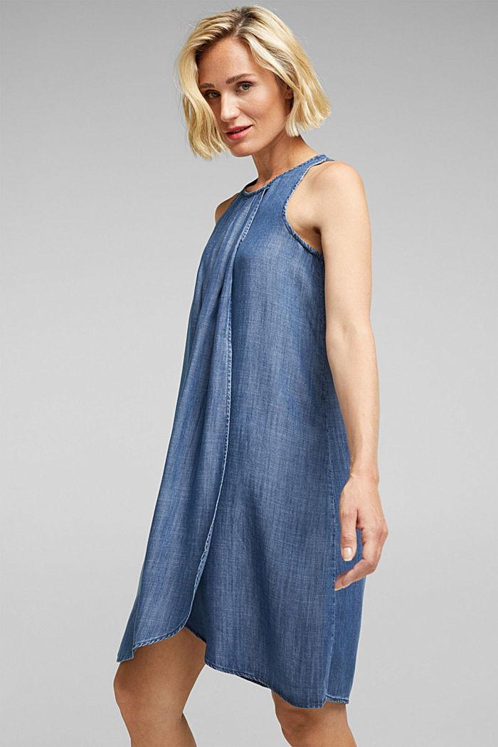 Layer-Kleid aus TENCEL™, BLUE DARK WASHED, detail image number 0
