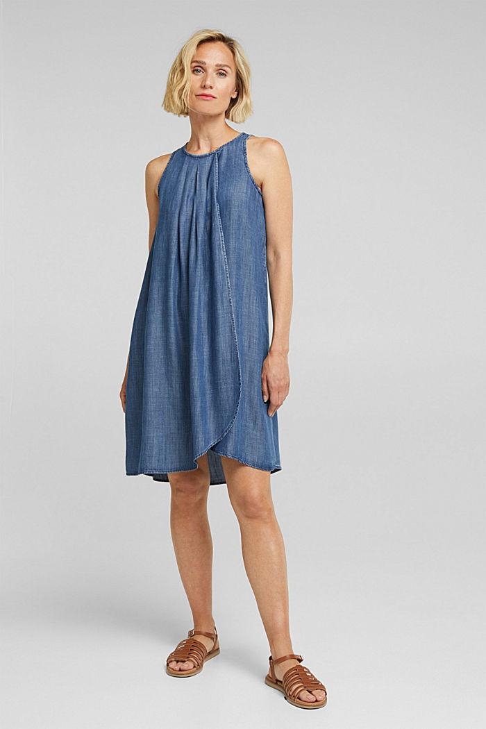 Layer-Kleid aus TENCEL™, BLUE DARK WASHED, detail image number 1